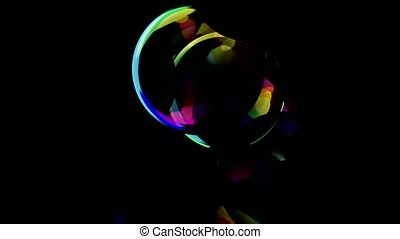 color soap bubble, blister, waterdrop, glass ball, ...