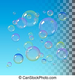 Color Soap bubbles
