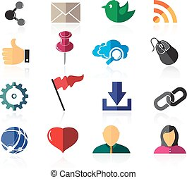 Color social network icons