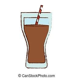 Color soda glass icon design
