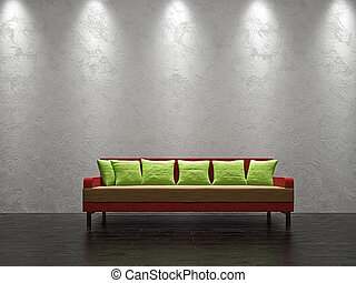 Color sofa  in the livingroom