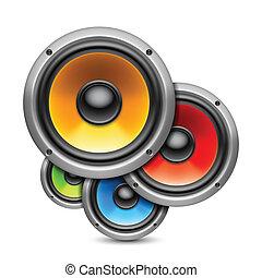 Color speakers.