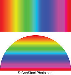 Color Spectrum Bars Background. Vector