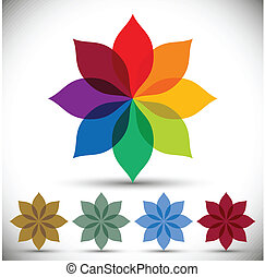 Color spectrum flower. - Color spectrum flower, rainbow...