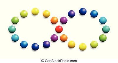 Color Spectrum Infinity Symbol Rainbow Balls