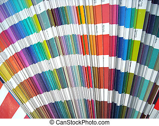color spectrum - Paper color sampler guide spectrum. Graphic...