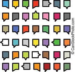 Color speech clouds