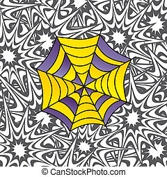 color spiderweb art - color retro spiderweb theme vector art...