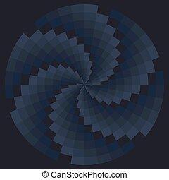 Color spiral pattern