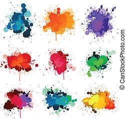 color splash on white