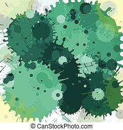 Color splash watercolor vector abstract background
