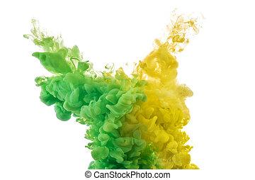 color splashes of ink