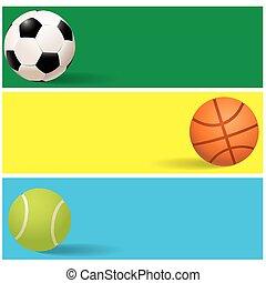 color sport banner