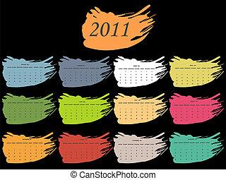 color spot calendar for 2011