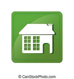 color square emblem with house