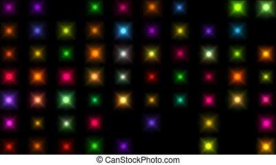 Color square matrix, disco light, holiday