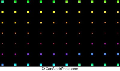 color square neon light background, seamless loop,1080p