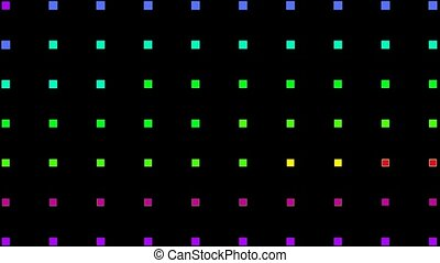 color square neon light background
