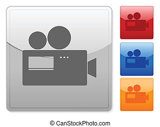 square web buttons camera