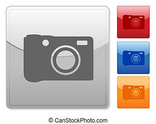 square web buttons digital photo