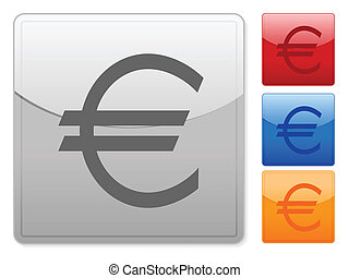 square web buttons euro
