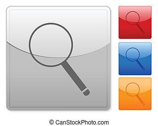 square web buttons magnifier