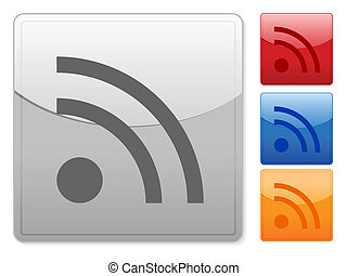 square web buttons rss 2