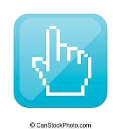 color square with hand cursor icon