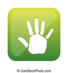 color square with handprint icon