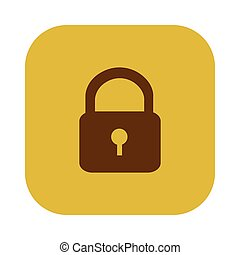 color square with padlock icon