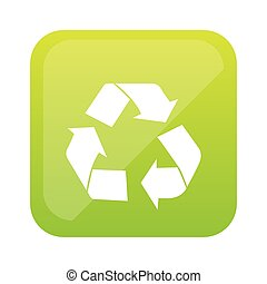color square with recycling icon