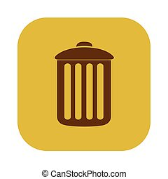 color square with trash container icon