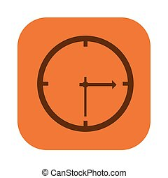color square with wall clock icon