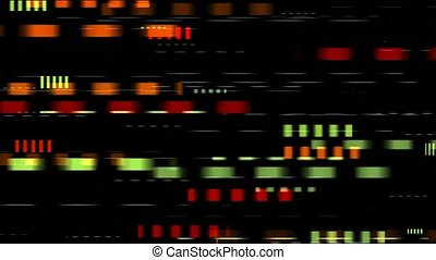 color squares with fast speed in black background,seamless loop
