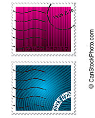 Color stamps with security elements
