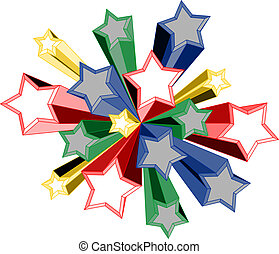 Color star - Creative design of color star