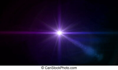 color Star cross color lens flare center 4k