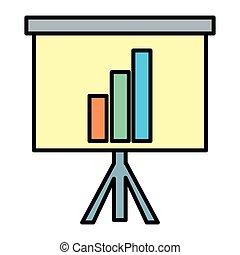 color statistics bar precentation graphic growing