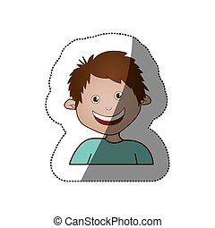 color sticker happy boy icon