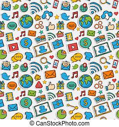 Color Sticker mobile apps pattern