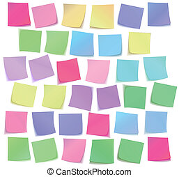 Color sticky notes set
