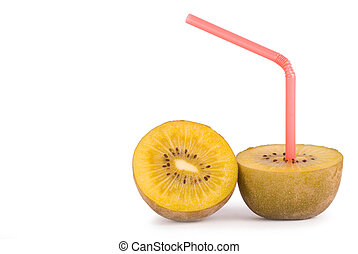 concept of kiwi juice