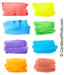 color strokes oil paint brush art - collection of color ...