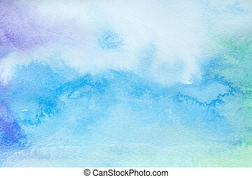 color strokes watercolor painting art - close up of water ...