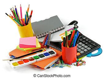 color, suministros, escuela