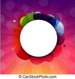 Color Sunburst With Speech Bubble
