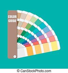 Color swatch. Color palette guide.