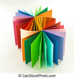 Color swatch. Colorful abstract backdrop with cardboard... stock ...