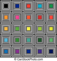 Color swatches hypnotic square color targets