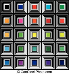 Color swatches square color targets
